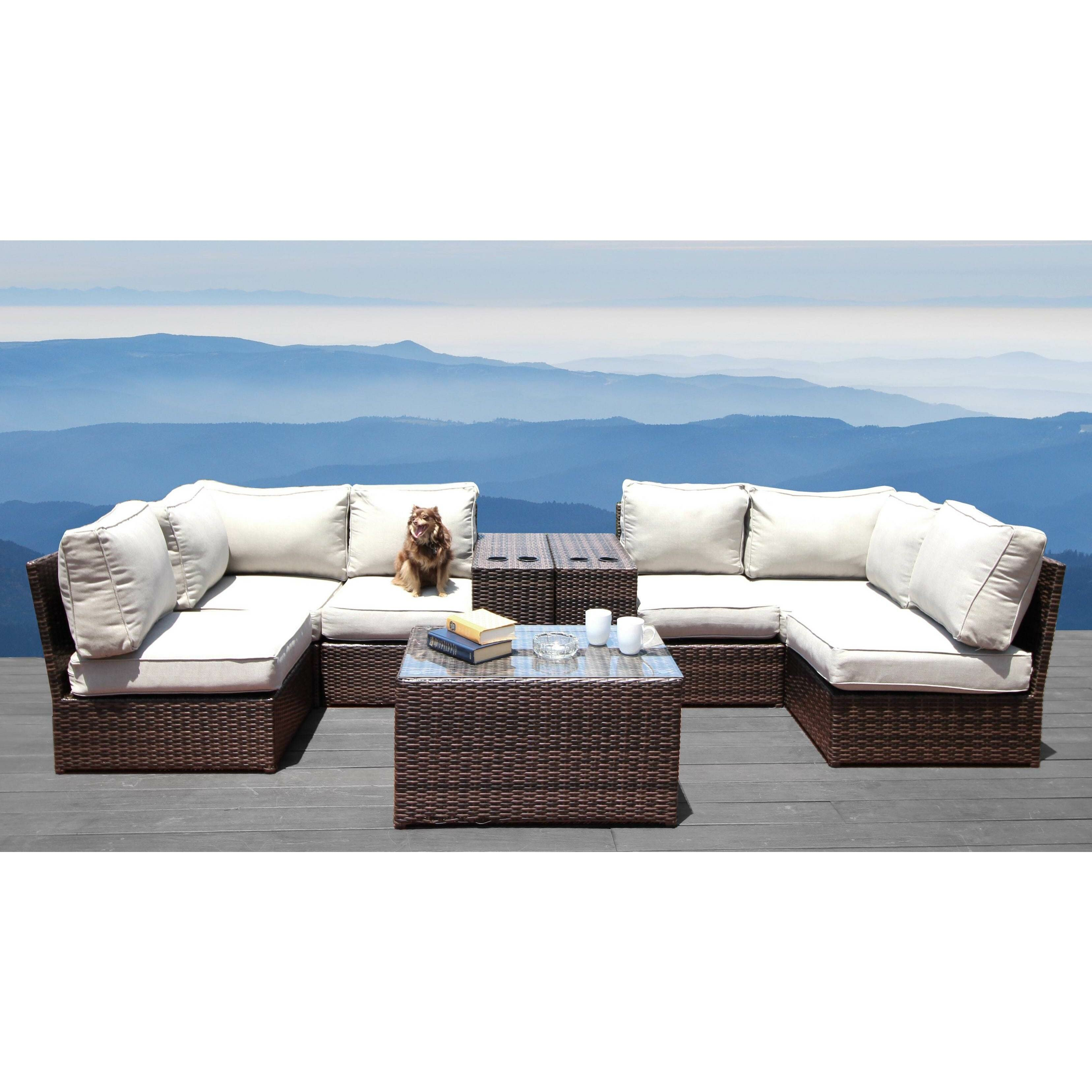 Orren Ellis Vasil 9 Piece Sectional Seating Group With Cushions Reviews Wayfair