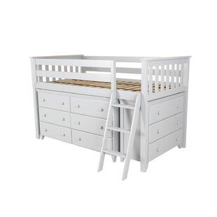 Affordable Ginny Twin Loft Bed with 2 Dresser ByHarriet Bee