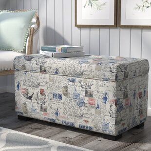 Lark Manor Pavot Fabric Storage Bench