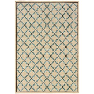 Kaydence Beige/Blue Indoor/Outdoor Area Rug