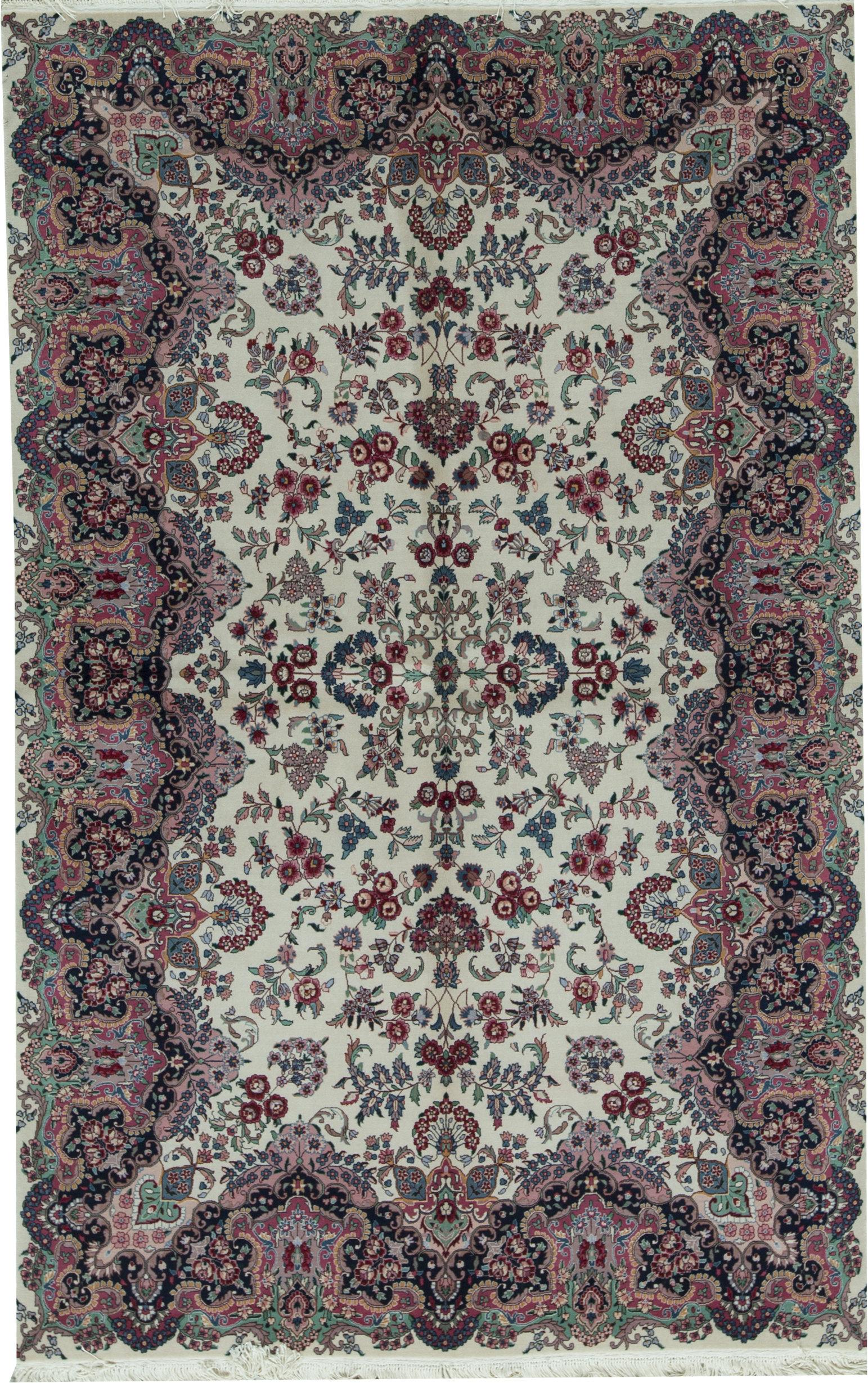 Bokara Rug Co Inc Shah Oriental Hand Knotted Wool Ivory Area Rug Wayfair