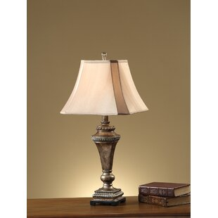 Malpass Empire Square Shade Pillar Stand 30 Table Lamp (Set of 2)