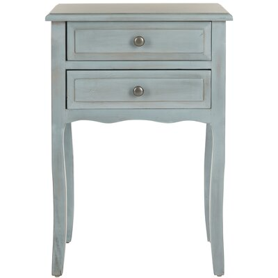 Philipston 2 Drawer Nightstand Color: Barn Blue by Andover Mills