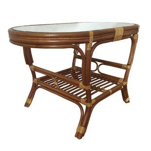 Mills Rattan Wicker Oval Coffee Table by ..