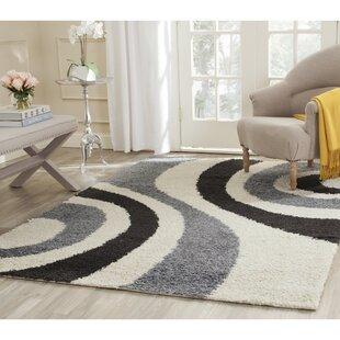Online Reviews Swanson Ivory & Grey Contemporary Area Rug ByLatitude Run