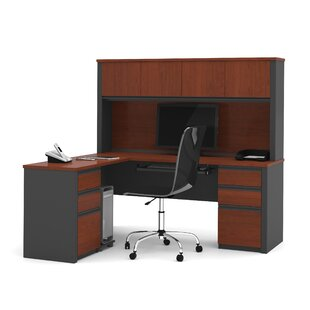 Kenworthy Reversible L-Shape Executive Desk Hutch by Ebern Designs Great Reviews