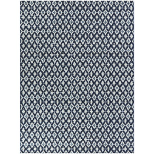 George Oliver Mccree Ikat Blue Indoor Outdoor Area Rug Wayfair