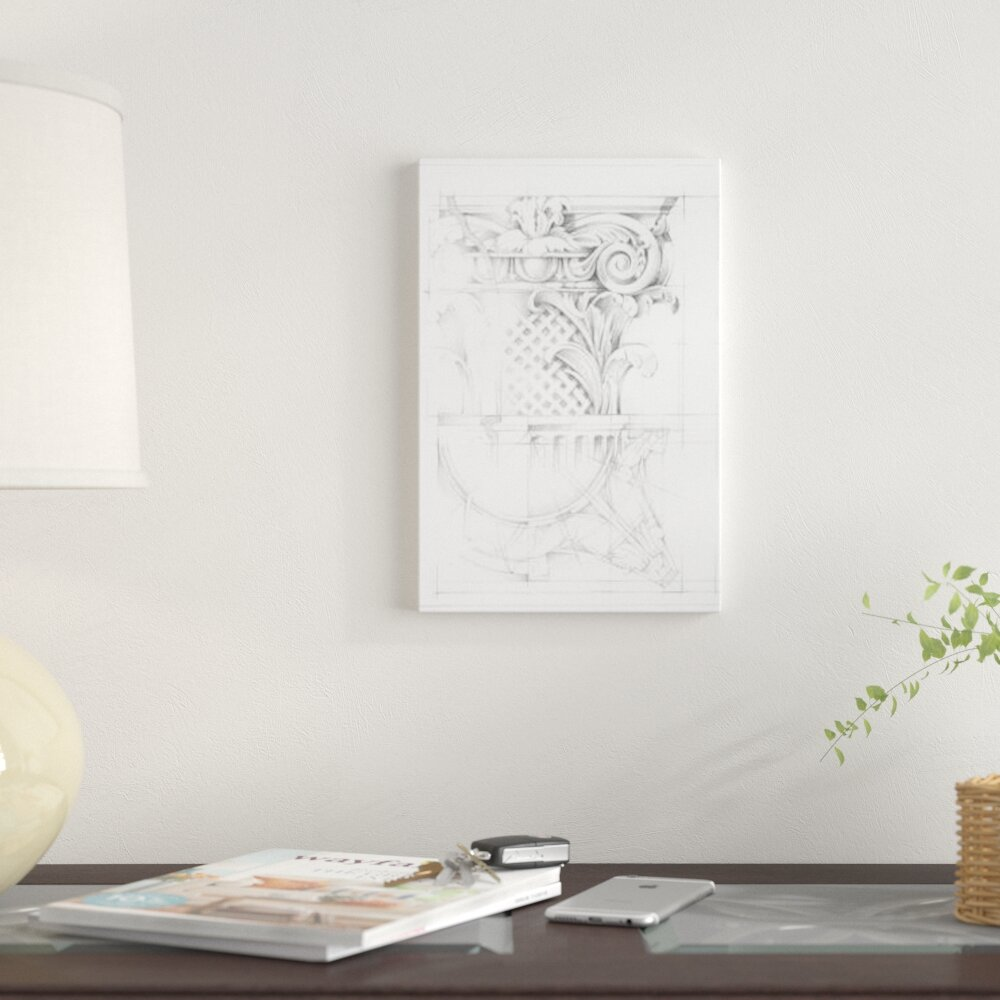 East Urban Home Capital Schematic I Graphic Art Print On Canvas Wall Wayfair