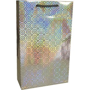 Disco Holographic Printed Two Bottle Carrier