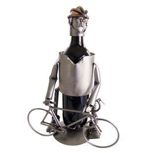 Bicycle Rider Male 1 Bottle Tabletop Wine..