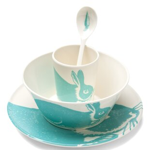 Bunny 4 Piece Melamine Place Setting, Service for 1