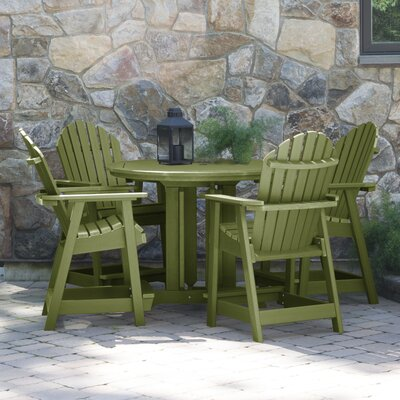 Magaw 5 Piece Dining Set by Longshore Tides Today Sale Only