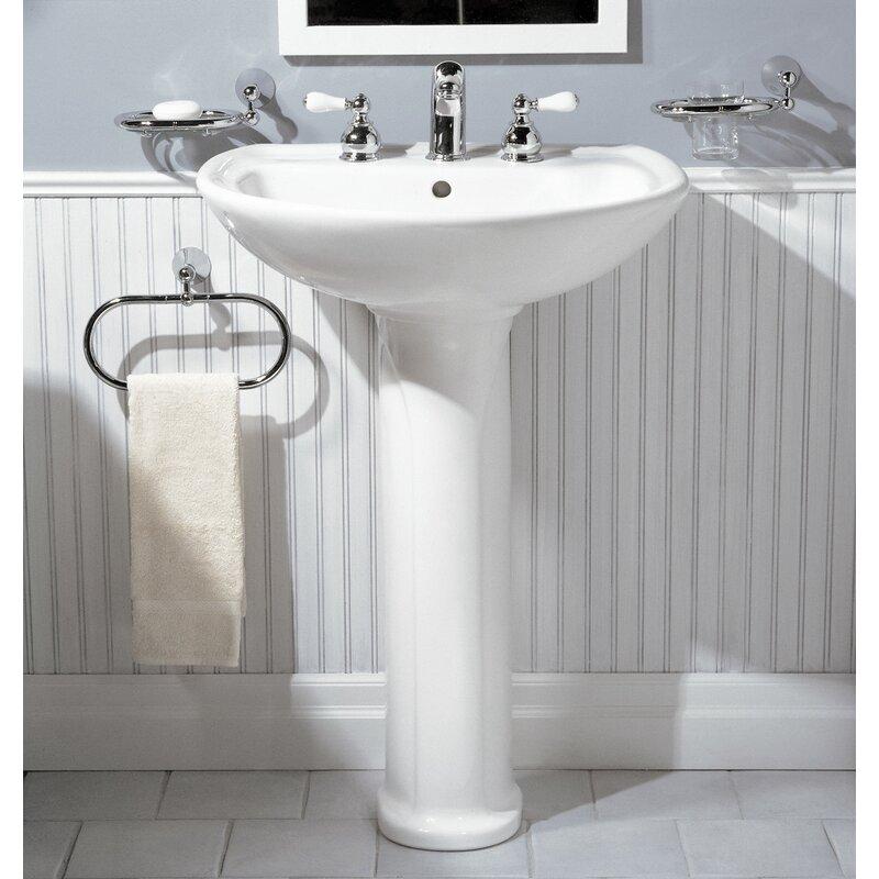 American Standard Cadet 30 Tall Vitreous China U Shaped Pedestal Bathroom Sink With Overflow Reviews Wayfair