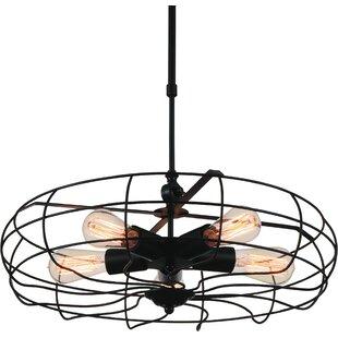 Pamela 5-Light Geometric Chandelier by CWI Lighting