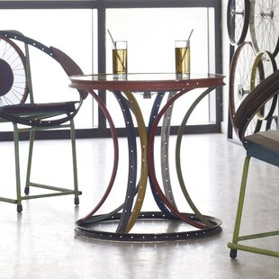 Cropsey Bicycle Rim Assorted End Table by..