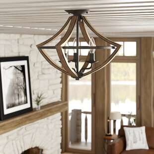 Reimers 3-Light Semi Flush Mount by Loon Peak