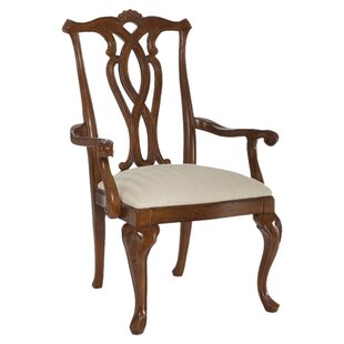 Staas Pierced Back Arm Chair (Set of 2) by Astoria Grand