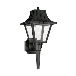 Great Price Sanderson 1-Light Outdoor Sconce By Breakwater Bay