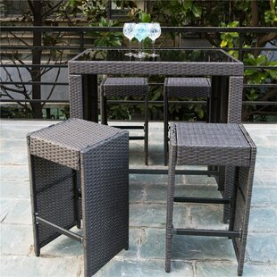 Lillis Outdoor 5 Piece Bar Set