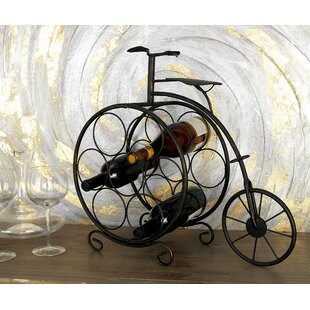 Fleur De Lis Living Brasher Vintage Bicyclette 7 Bottle Tabletop Wine Rack