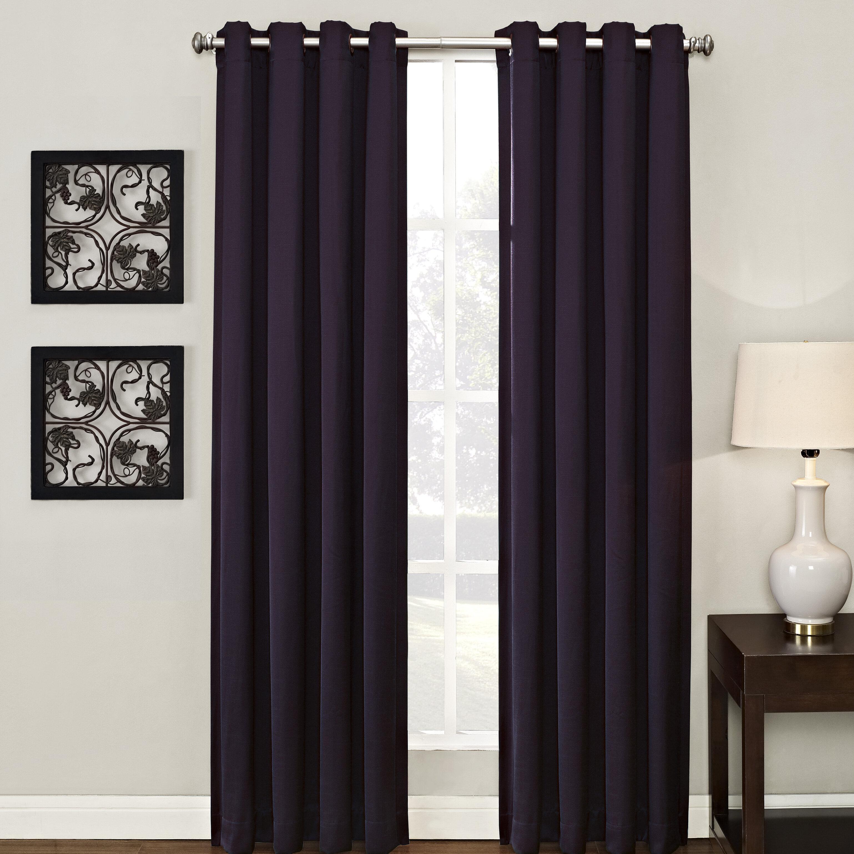 Style Decor Ashton Lined Solid Room Darkening Grommet Single Curtain Panel Reviews Wayfair