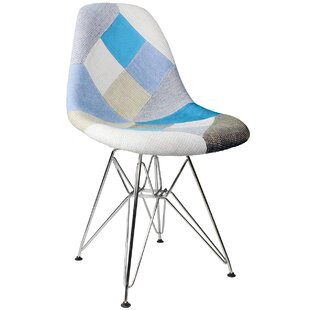 Patchwork Side Chair by eModern Decor 2019 Sale