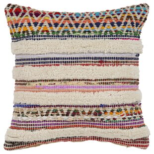 Myrna Chevron Striped Cotton Throw Pillow