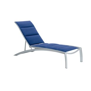 South Beach Padded Sling Reclining Chaise Lounge by Tropitone