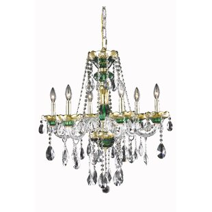 Astoria Grand Schroeppel Traditional 6-Light Candle Style Chandelier