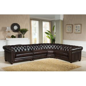 Bakersfield Leather Modular Sectional by Amax
