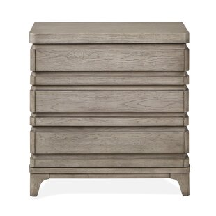 Freitas Wood 3 Drawer Nightstand