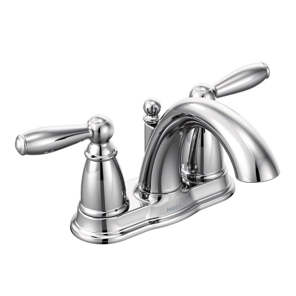 Cross Handle Bathroom Faucet Moen Brantford Two Handle Centerset Bathroom Faucet Reviews