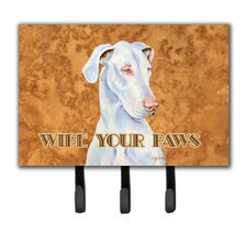 Great Dane Wipe Your Paws Leash Holder and Key Hook by Caroline's Treasures