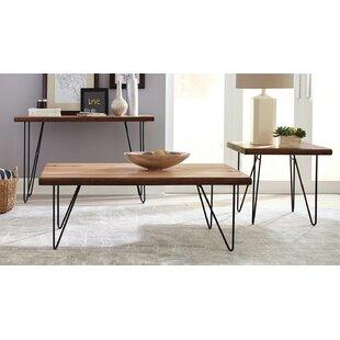 Brayden Studio Carver 3 Piece Coffee Table Set
