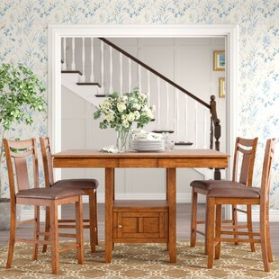 Dahlonega 5 Piece Counter Height Extendable Dining Set Purchase