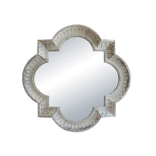 Freddy Metal Framed Quatrefoil Accent Mirror by One Allium Way