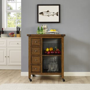 Ordway Kitchen Cart by Loon Peak Top Reviews
