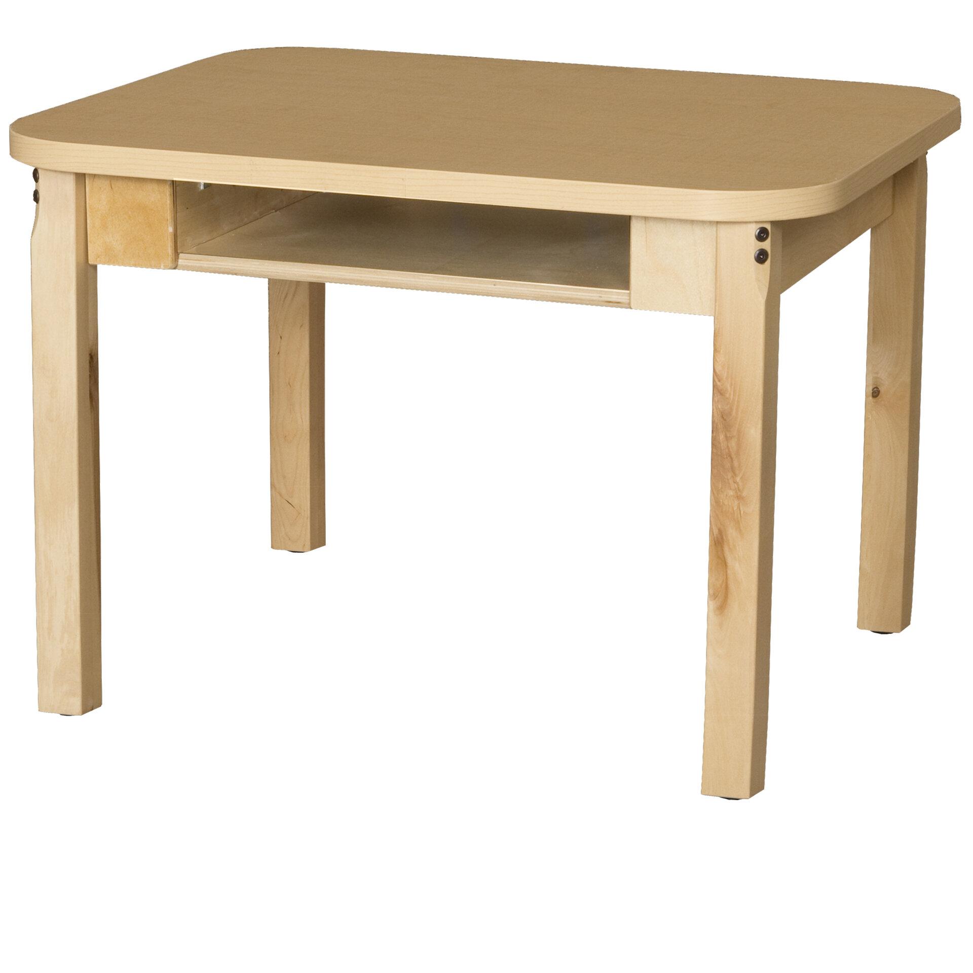 Wood Designs Manufactured Wood 30 Open Front Desk Wayfair