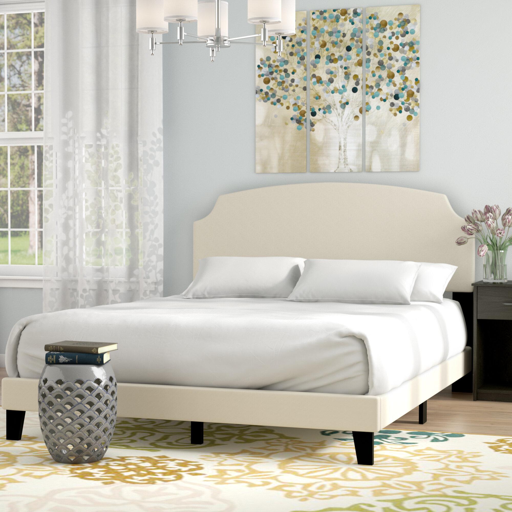 Andover Mills Greensburg Upholstered Panel Bed U0026 Reviews | Wayfair