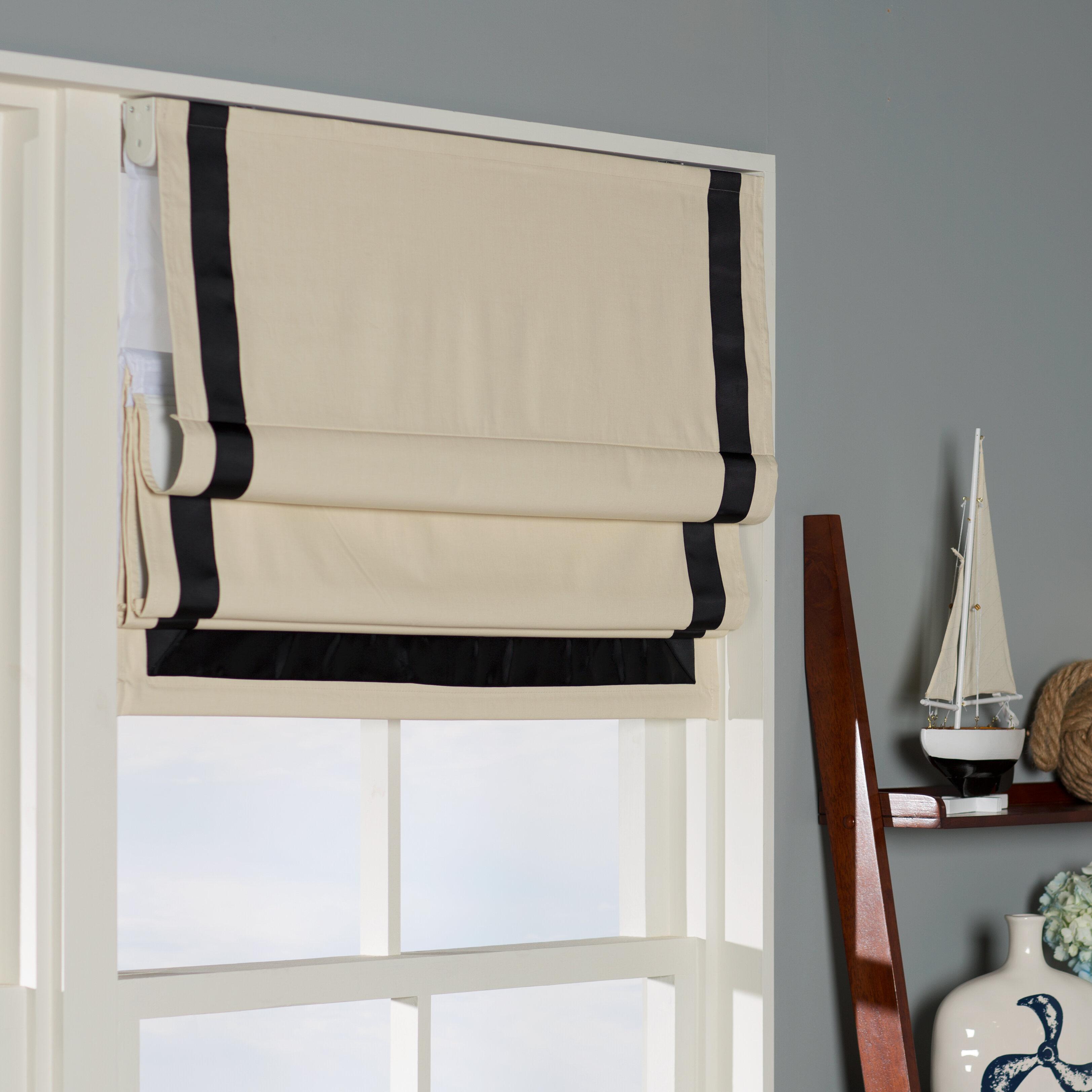 Beachcrest Home Indoor Cordless Blackout Roman Shade Reviews Wayfair