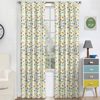 halie kids graphic print u0026 text blackout thermal rod pocket single curtain panel