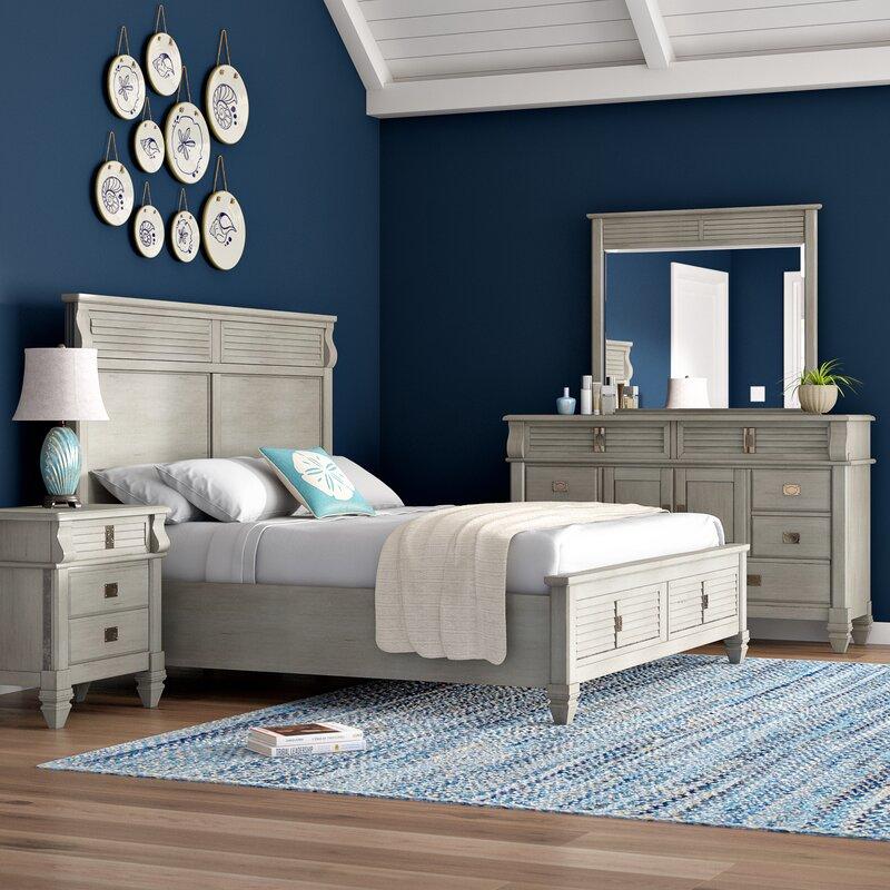 Vasilikos Solid Wood Construction Platform 4 Piece Bedroom Set Save The Look