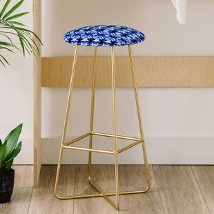 Wagner Campelo Shibori Tribal Indigo 31 Bar Stool East Urban Home