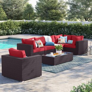 Brentwood 7 Piece Rattan Sectional Set with Cushions
