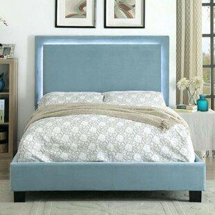 Cheserfo Padded Flannelette Upholstered Panel Bed