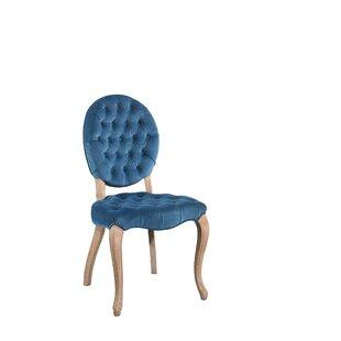 Ophelia & Co. Manlius Vintage Oval Tufted Velvet Upholstered Dining Chair