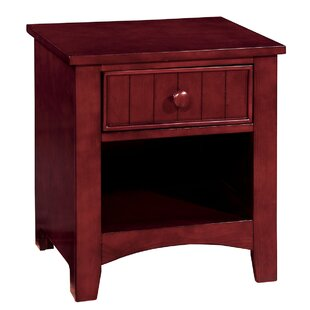 Reich Wooden 1 Drawer Nightstand by Breakwater Bay