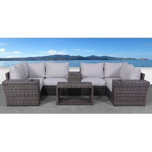 Cochran 10 Piece Rattan Sectional Seating Group with Cushions
