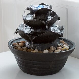 Pure Garden Resin/Acrylic Cascading Tabletop Fountain