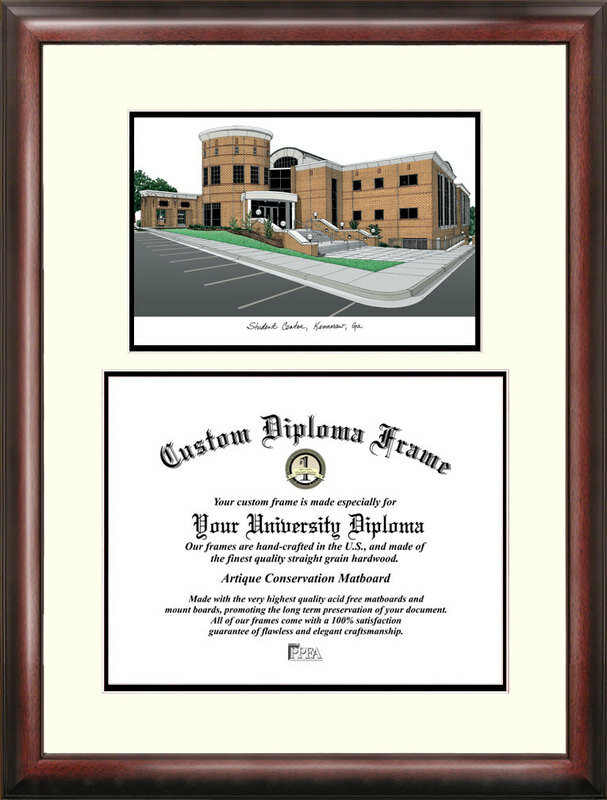 Campus Images Ncaa Kennesaw State Owls Scholar Lithograph Diploma Frame Wayfair